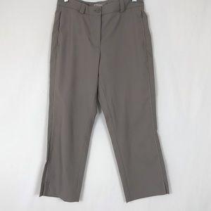 Nike Classic UV Capri Crop Pants Taupe Sz 6